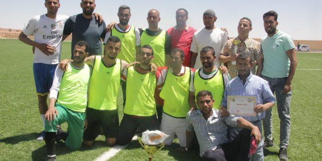 نهائي دورة كرة القدم (فريق الإدارة العامة vs فريق كلية العلوم الإنسانية والإجتماعية)
